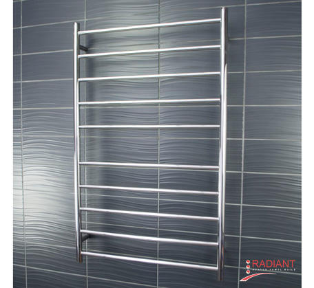 Heated Towel Ladder 750mm x 1200mm - 10 Round Bars