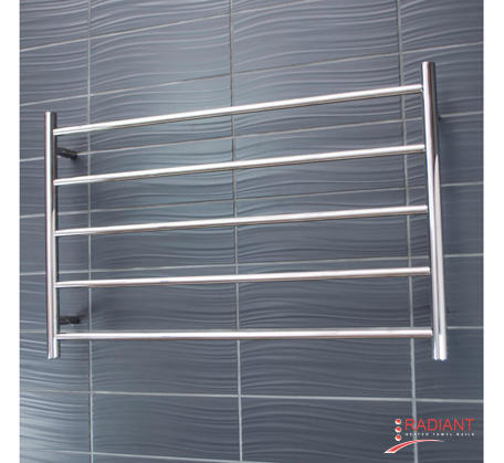 View Photo:  Heated Towel Ladder 950mm x 600mm - 5 Round Bars