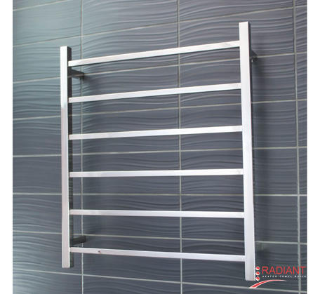 View Photo:  Heated Towel Rail 600x800mm - 7 Square Bars