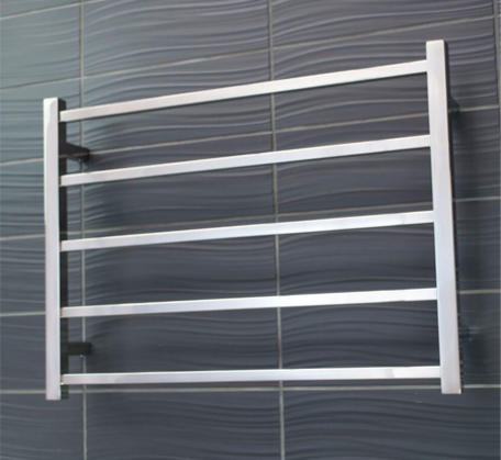 View Photo:  Heated Towel Rail 750x550mm - 5 Square Bars