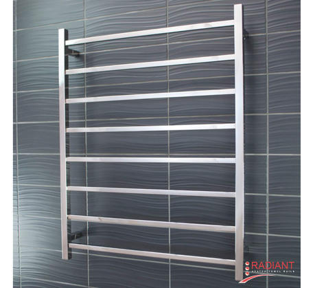 View Photo:  Heated Towel Rail 800x1000mm - 8 Square Bars