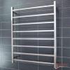 Heated Towel Rail 800x1000mm - 8 Square Bars