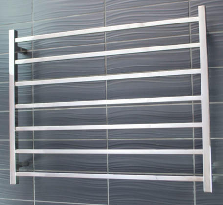 View Photo:  Heated Towel Rail 950x750mm - 7 Square Bars