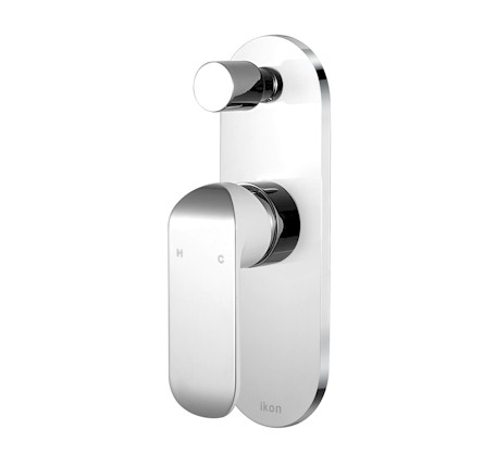Kara White/Chrome Wall Mixer With Diverter