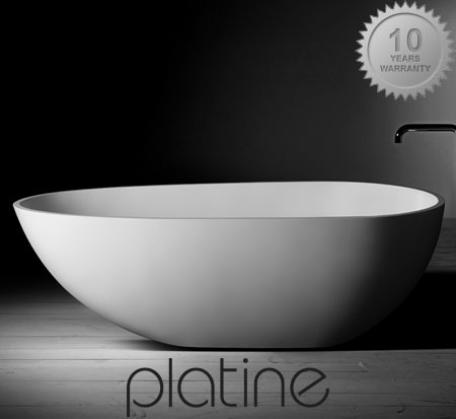 View Photo: Luna Stone Bath from Plantine. 2 sizes, also matching basin