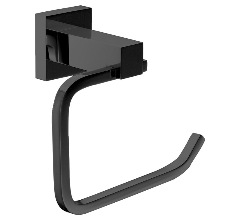 View Photo: Luxe Black Toilet Paper Holder (Ring) Matte Black