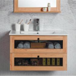 View Photo: Manhattan 600mm Wall Hung Vanity with Ceramic Top