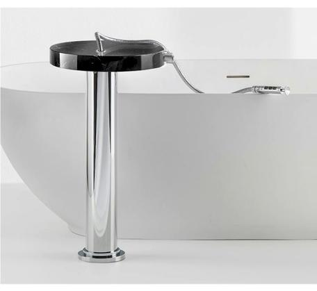 View Photo: Marmo Black Marquina Marble Free Standing Bath Filler Chrome
