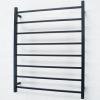 Matt Black Heated Towel Rail 800x1000mm - 8 Square Bars