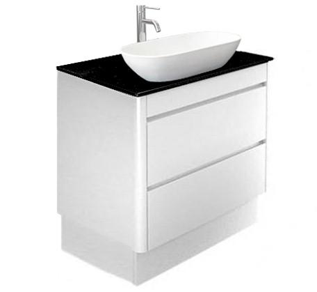 Milano Plus 750 Vanity on Plinth with Caesarstone Top
