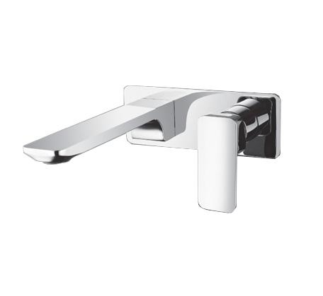 Momento Axus Mall Mounted basin mixer on plate