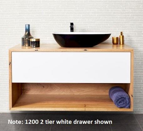 View Photo: Momento Eureka 1200mm 2 Tier Solid Timber Vanity