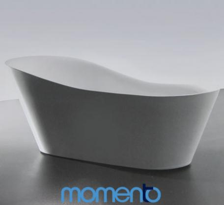 View Photo: Momento FS14 free standing bath 1800 Whit or Black Exterior