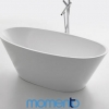Momento FS27 Free Standing Bath 1730 White or Black Exterior