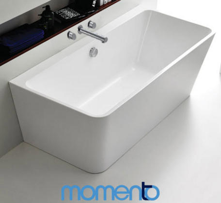 View Photo: Momento FS37 free standing back to wall bath 1700 White or Black Exterior