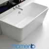 Momento FS37 free standing back to wall bath 1700 White or Black Exterior