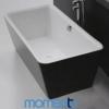 Momento FS3 Free Standing Bath 1700 White or Black Exterior