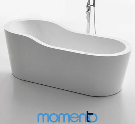 View Photo: Momento FS44 Free Standing Bath 1750 Black or White Exterior