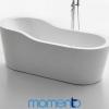 Momento FS44 Free Standing Bath 1750 Black or White Exterior
