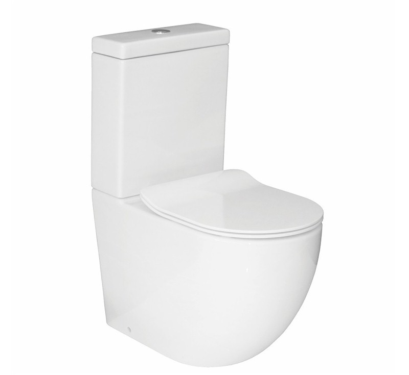 Moro Rimless Hygiene Flush BTW Toilet Suite
