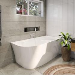 View Photo: Natalia Back to Wall Corner Freestanding Bath - 1500