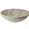 Navona Travertine round stone basin