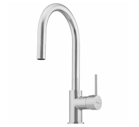 View Photo: Oliveri Essentials Pull Out Goose Neck Mixer - Chrome