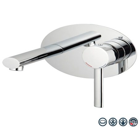 View Photo: Ovalo wall mounted basin mixer