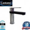 Piera Basin Mixer - Black & Chrome (Black Spout)