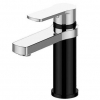 Piera basin mixer - Black & chrome (chrome spout)