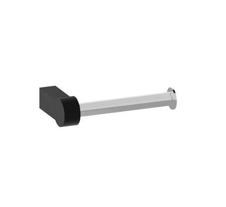 Piera toilet roll holder - Black & chrome