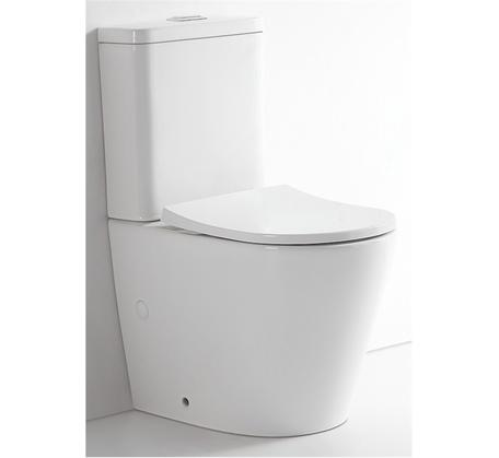 Prado Rimless Back to Wall Toilet Suite Nano Glaze