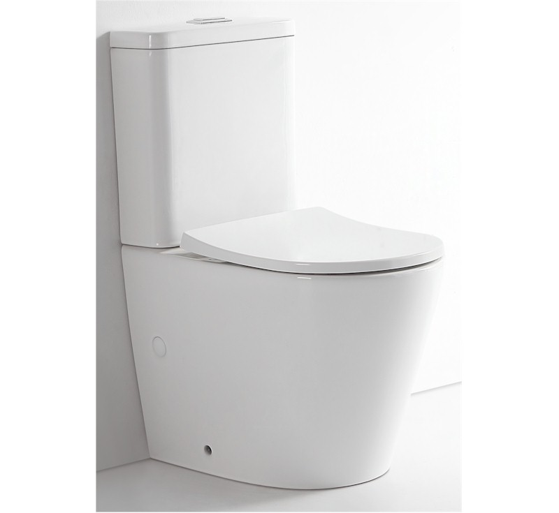 View Photo: Prado Rimless Back to Wall Toilet Suite Nano Glaze 15yrs Wty
