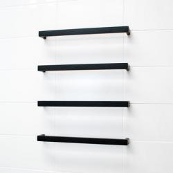 View Photo: Radiant 12V Single Bar Square Heated Rail 800mm - Black