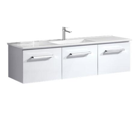 Ravello 1500 Wall Hung Vanity, China Top Single Basin