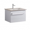 Ravello 600 Wall Hung Vanity, Caesarstone Top Single Basin