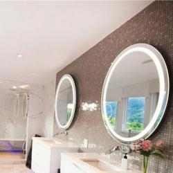 View Photo: RB Range Premium Backlit Mirror Round (warm light) - 610 dia