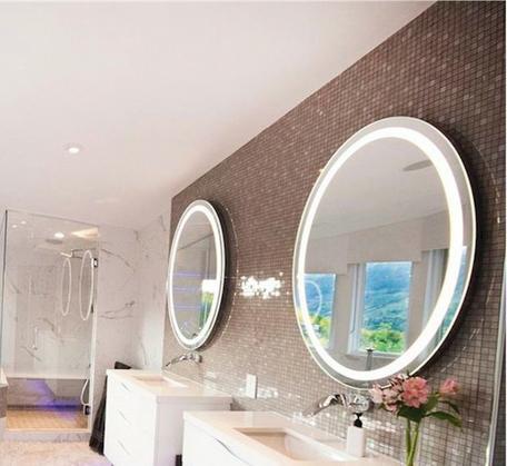 RB Range Premium Backlit Mirror Round (warm light) - 610 dia