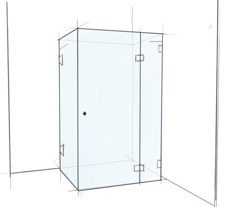 View Photo: Rectangular Frameless Shower Screen