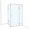 Rectangular Frameless Shower Screen
