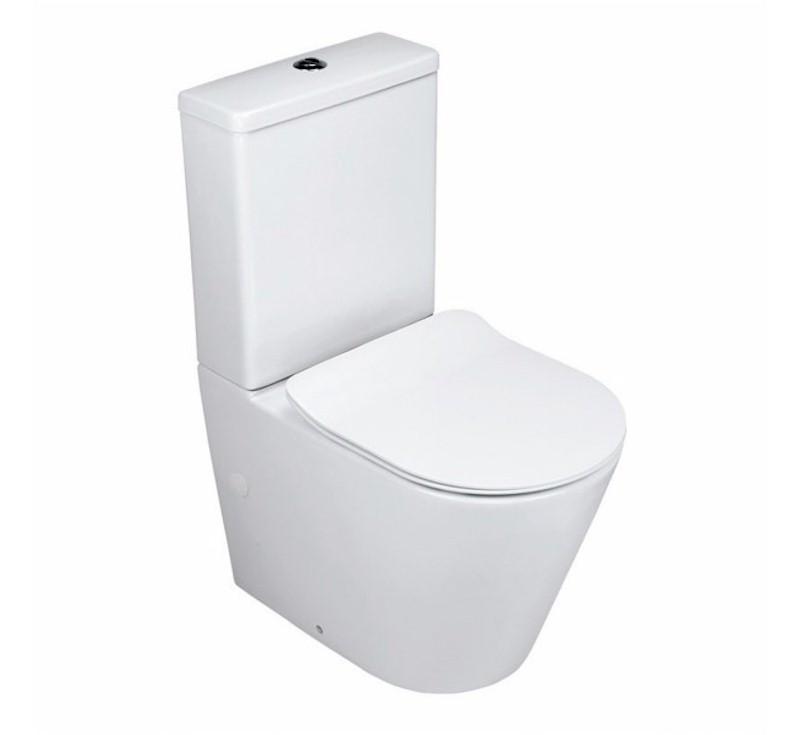 View Photo: Salso Rimless Hygiene Flush BTW Toilet Suite