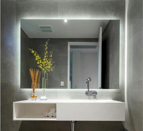 View Photo: SS Range Premium Back-lit Mirror (cool light) 2 Sizes