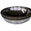 Stone Basin - Polished inner with smashed outer - 3 colours