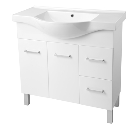 View Photo: Virtue semi recessed vanity on plinth or legs