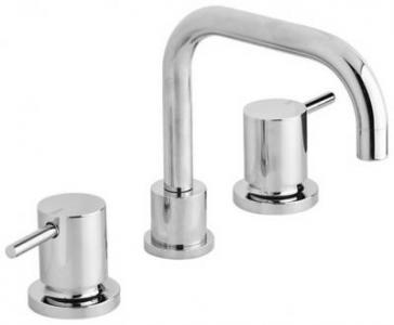 View Photo: Vivid Pin Lever Square Line Basin Set