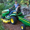 John Deere Compact Tractor with Tralier