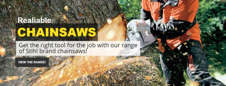 Realiable Chainsaws from Stihl at Beacon Equipment