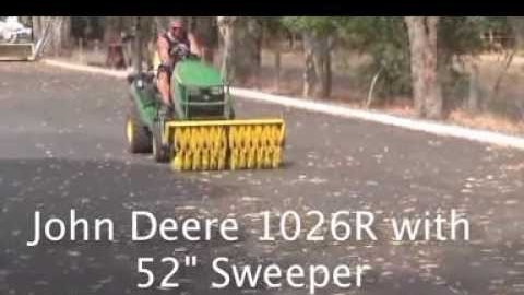 "Watch Video : John Deere 1025R with 52"" Sweeper"