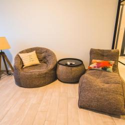 View Photo: Avatar Sofa, Versa Table and Butterfly Sofa in Luscious Grey