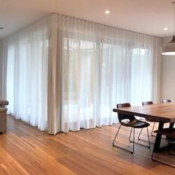 View Photo: Wave Fold sheer curtains on Alfresco door corner